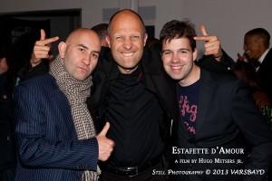 Tijdens de premiere met producent Reza Jahangir Tafrechi & regisseur Hugo Metsers.
